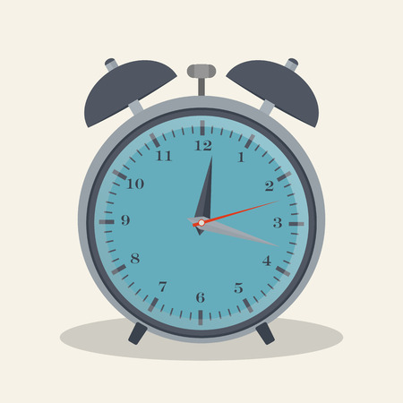Flat style vector illustration of alarm clock for your design Vector