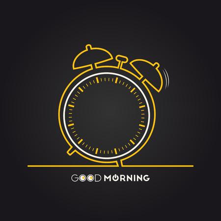 Ilustración vectorial de un reloj de alarma para su diseño Foto de archivo - 38814819