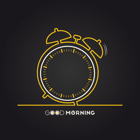 Vector illustration of alarm clock for your design Иллюстрация