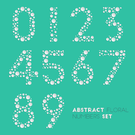 Abstract floral numbers set for your design Vector