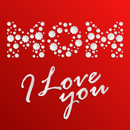 International Mothers Day greeting card for your design Vector