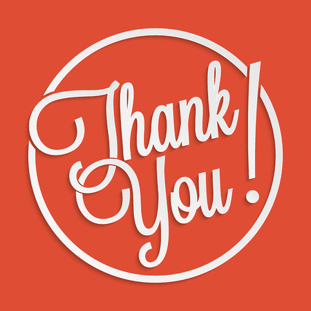 Thank you hand lettering for your design Illustration