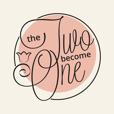 become: The two become one hand lettering for your design
