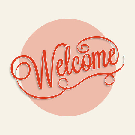 title hands: Welcome hand lettering calligraphy for your design Illustration