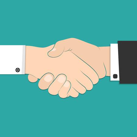 hands at work: Vector illustration of business handshake for your design Illustration