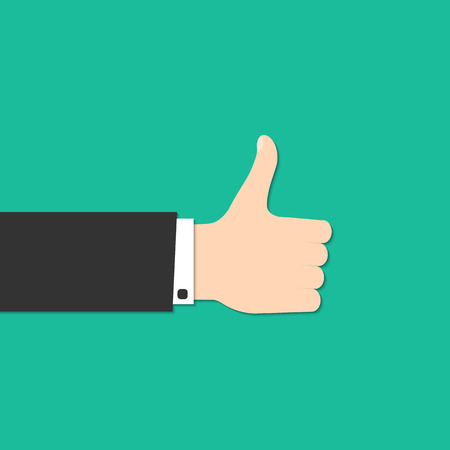 Vector illustration of thumbs up for your design