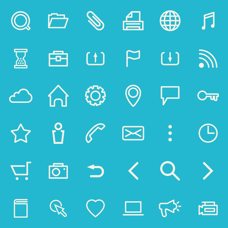 contact icon set: set of line icons for web design Illustration