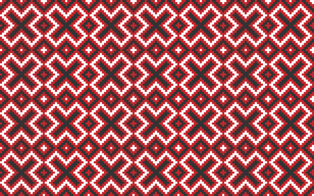 illustration of seamless traditional national embroidered pattern Illustration