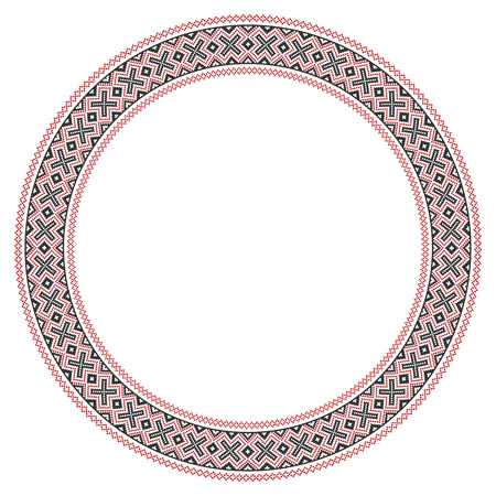 slavic: illustration of traditional Slavic round embroidered pattern Illustration
