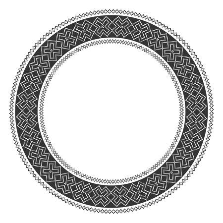 slavic: Illustrazione della tradizionale slavo turno modello ricamato Vettoriali