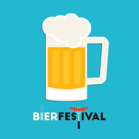 wiesn: Beer mug. Oktoberfest beer festival greeting card design
