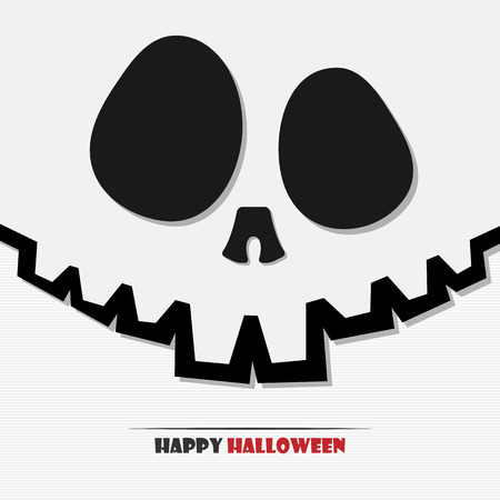 cute ghost: Vector illustration of Halloween skull for your design Illustration