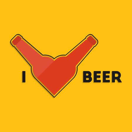wiesn: I love beer. Oktoberfest festival greeting card design