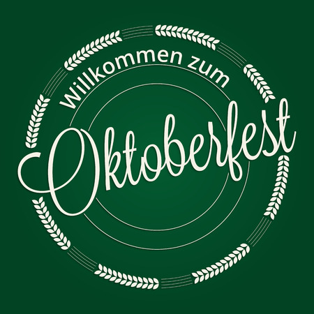 wiesn: Welcome to the Oktoberfest lettering. Octoberfest festival greeting card design