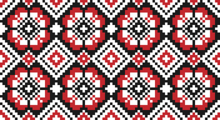 traditional illustration: Vector illustration of seamless traditional national embroidered pattern for your design