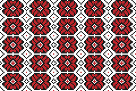rushnik: Vector illustration of seamless traditional national embroidered pattern for your design