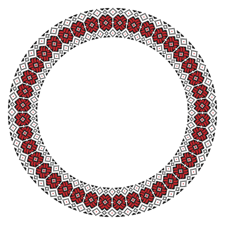 slavic: Vector illustration of traditional Slavic round embroidered pattern for your design