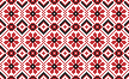 Vector illustration of seamless traditional national embroidered pattern for your design