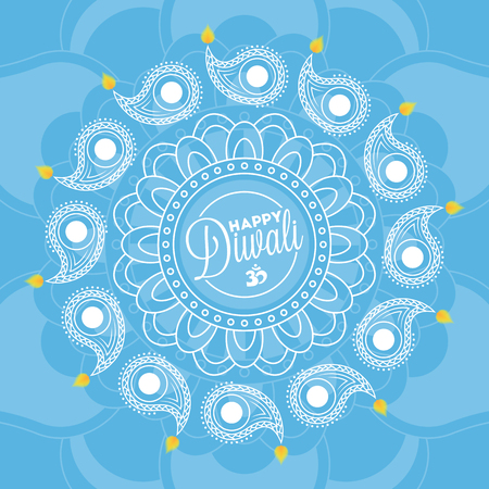 Happy diwali background for your greeting card design Stock Vector - 46645475