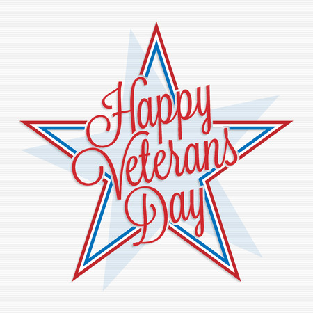 honoring: Happy Veterans Day lettering for your design