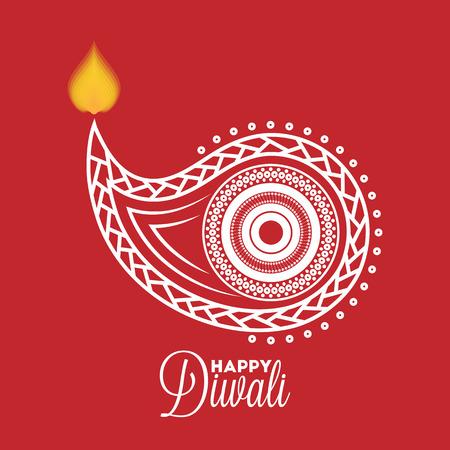 divali: Diwali diya oil lamp for your greeting card design Illustration