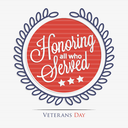 Honoring all who served lettering for your design Stock Illustratie