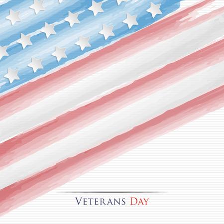 estrellas  de militares: Día de los Veteranos. Fondo de la bandera americana abstracta Vectores