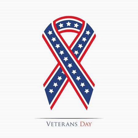libertad: Feliz cinta Día de los Veteranos Vectores