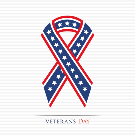 national freedom day: Happy Veterans Day ribbon