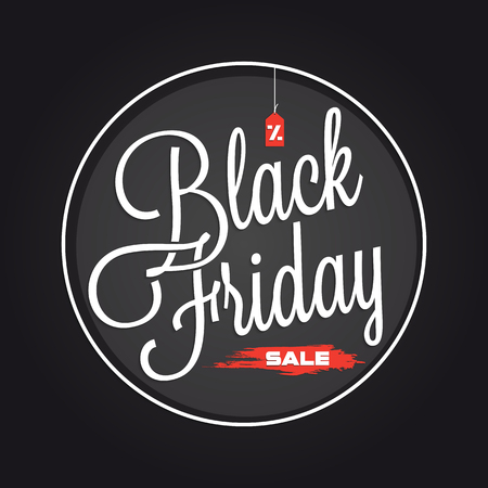 sale sign: Black Friday Sale lettering for your design