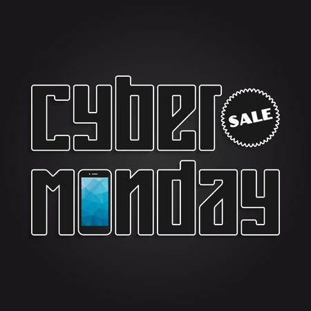 monday: Cyber Monday Sale banner for your design