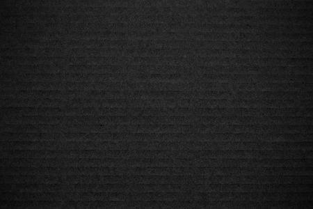 cardboard texture: Closeup of black corrugated cardboard texture for your design Stock Photo