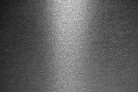 siderurgia: Suave textura metálica cepillado como un fondo Foto de archivo