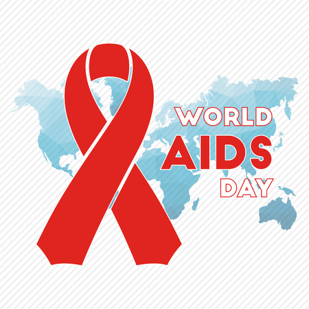carefulness: World AIDS Day red ribbon for your design