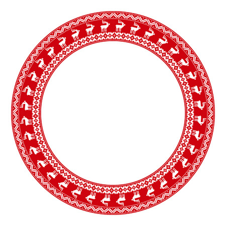 embroidered: Merry Christmas round embroidered pattern for your design
