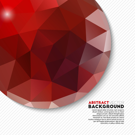 diamond background: Abstract red polygonal background for your design