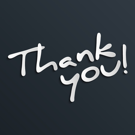 Thank you hand lettering for your design Иллюстрация