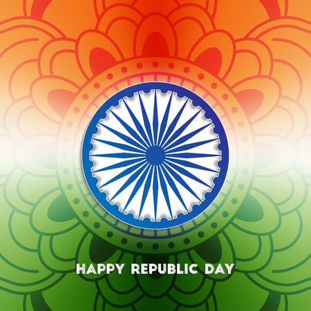 ashoka: Indian republic day background with ashoka wheel for your design