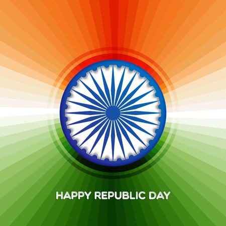 Indian republic day background with ashoka wheel for your design
