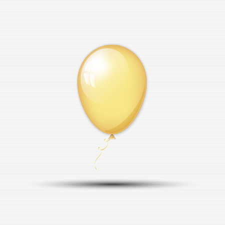 balloon background: Abstract golden balloon with ribbon for your design Illustration