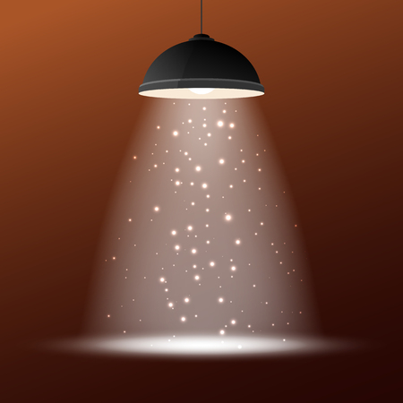 ceiling design: Vector illustration of retro ceiling lamp for your design