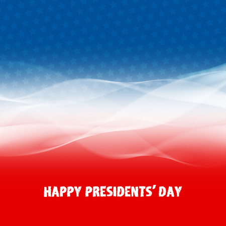 patriotic: Happy Presidents Day abstract background for your design