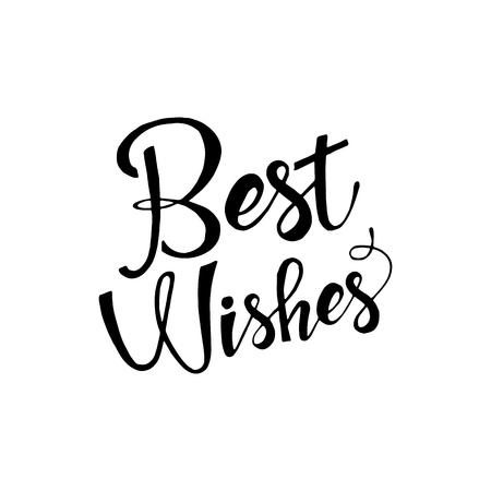 Los mejores deseos de una frase. letras. La caligrafía moderna. poner letras aisladas sobre fondo blanco. Los mejores deseos de letras para su diseño