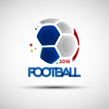 Fútbol bandera de campeonato. Ilustración del vector del balón de fútbol abstracto para el diseño Ilustración de vector