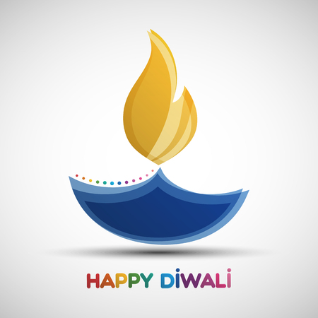 Happy Diwali abstract background. Festival of lights Deepavali. illustration of Diya oil lamp for your greeting card design