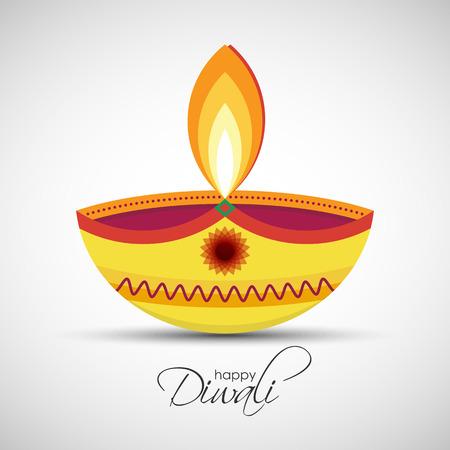 Festival van lichten Deepavali. Gelukkige Diwali achtergrond. illustratie van Diya olielamp voor uw wenskaart ontwerp