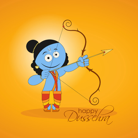 good and evil: Lord Rama killing Ravana for Hindu festival Dussehra that celebrates the victory of good over evil