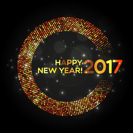 paillette: Happy New Year 2017 abstract light background for your design
