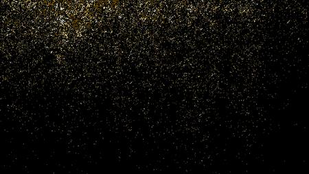Grunge golden dust overlay texture. Vector illustration of abstract golden glittering particles background for your design Illustration