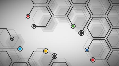 Vector illustratie van zeshoekige cellenachtergrond. Digitaal futuristisch sjabloon. Abstracte geometrische zeshoek achtergrond voor uw ontwerp